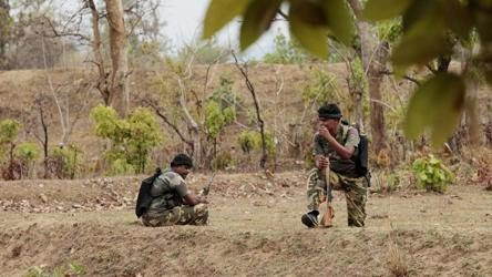 A joint team of district reserve guard DRG and Central Reserve Police Force CRPF  engaged a group of Maoists in a gunfight in  a forest in Chhattisgarhs Bijapur district